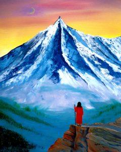 Painting by Nayaswami Jyotish